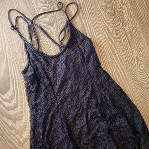 Black lace dress size medium